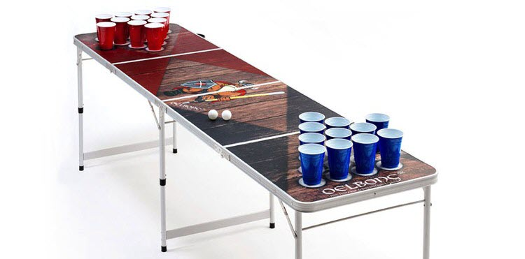 beer pong tisch bier trinkspiele. Black Bedroom Furniture Sets. Home Design Ideas